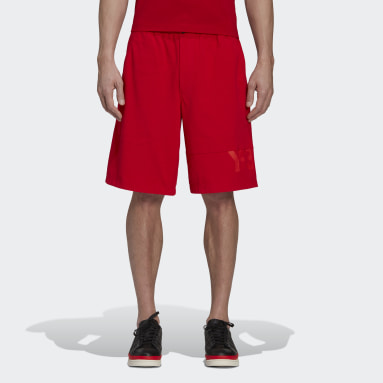 Men Y-3 Red Y-3 Classic Heavy Piqué Shorts
