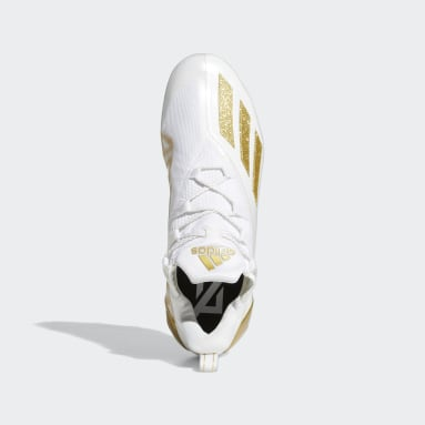 Men's Football White Adizero 11.0 Football Cleats