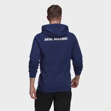 Real Madrid Travel Hoodie Niebieski