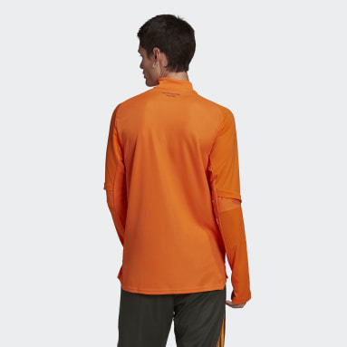 Men Football Orange Manchester United Training Top
