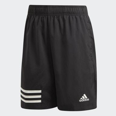 Boys Gym & Training Black 3-Stripes Shorts