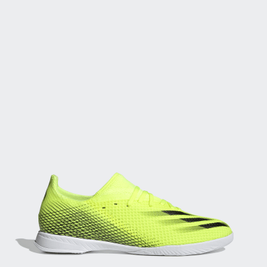 Men's Soccer Yellow X Ghosted.3 Indoor Shoes
