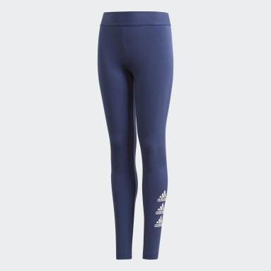Mädchen Yoga Must Haves Badge of Sport Tight Blau