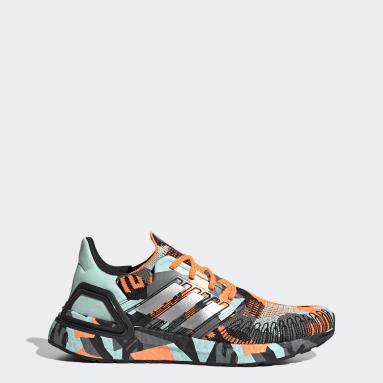 Men Running Orange Ultraboost 20 Shoes