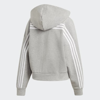 Women Sportswear Grey Must Haves 3-Stripes Hoodie