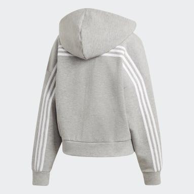 Veste à capuche Must Haves 3-Stripes Gris Femmes Sportswear
