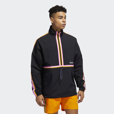 Anorak Taped Negro Hombre Originals
