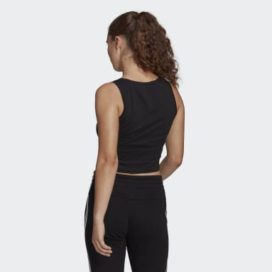 Women's Essentials Black Essentials Cropped Tank Top