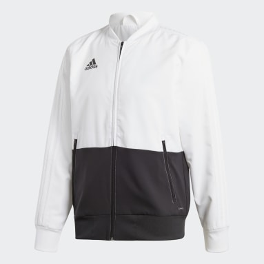 Men Gym & Training White Condivo 18 Presentation Jacket