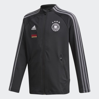 Kids Football Black Germany Anthem Jacket