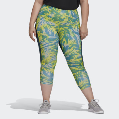 Women's Training Turquoise adidas x Zoe Saldana AEROREADY 7/8 Tights (Plus Size)