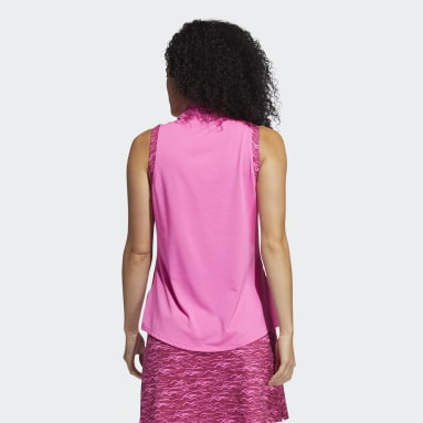 Women Golf Pink Ultimate365 Sleeveless Polo Shirt