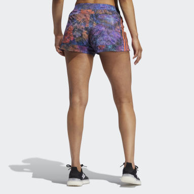 Short Pacer Woven Floral Turchese Donna Fitness & Training