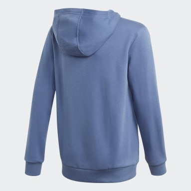 Boys Gym & Training Blue Logo Hoodie