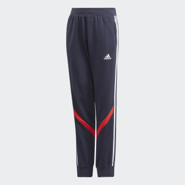Boys Gym & Training Blue Comfort Colorblock Pants