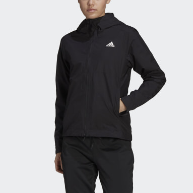 Women's Hiking Black BSC 3-Stripes RAIN.RDY Jacket
