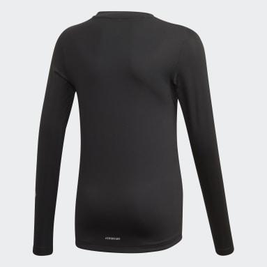 Kluci Cvičení A Trénink černá Tričko TECHFIT