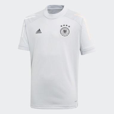 Kinder Fußball DFB Trainingstrikot Grau