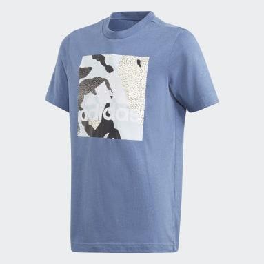 T-shirt Camo Graphic Blu Ragazzo Fitness & Training