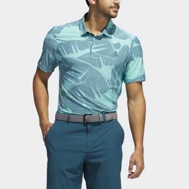 Men's Golf Green Vibes Print Polo Shirt
