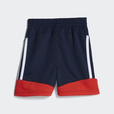 Children Training Blue 4KRFT 3-Stripes Shorts