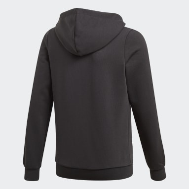 Youth Training Black Essentials 3-Stripes Hoodie