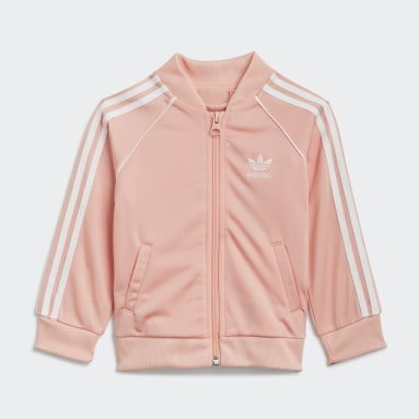 Kids Originals Pink Adicolor SST Track Suit