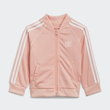 Børn Originals Pink Adicolor SST træningsdragt