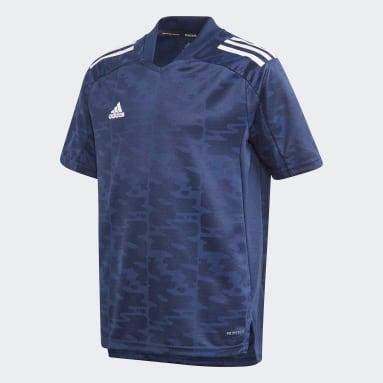 Jongens Voetbal Blauw Condivo 21 Primeblue Voetbalshirt