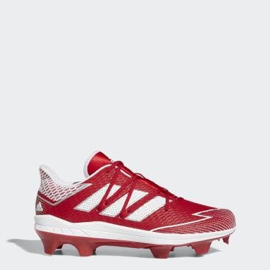 Men's Baseball Red Adizero Afterburner 7 Pro TPU Cleats