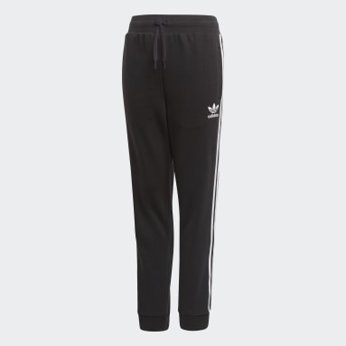 Kids Originals Black 3-Stripes Joggers