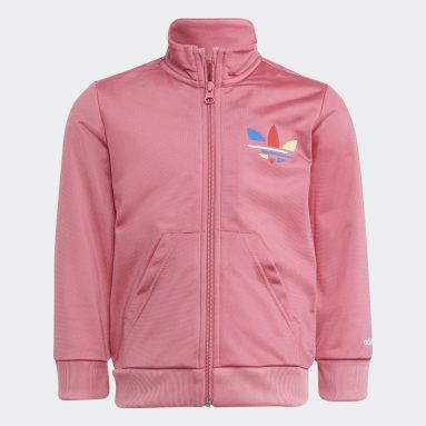Kids Originals Pink Adicolor Track Suit