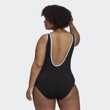 Women's Originals Black Adicolor Classics Primeblue Swimsuit (Plus Size)