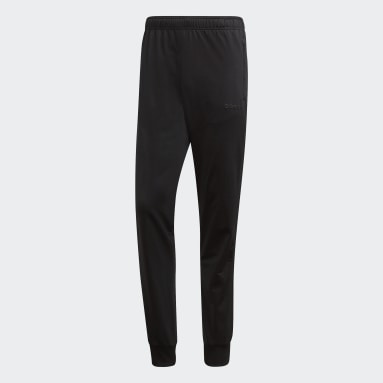 Men Essentials Black Essentials 3-Stripes Tapered Tricot Pants