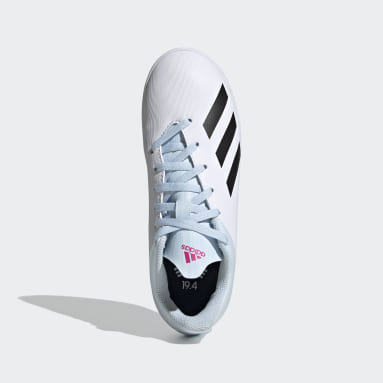Boys Football White X 19.4 Indoor Boots