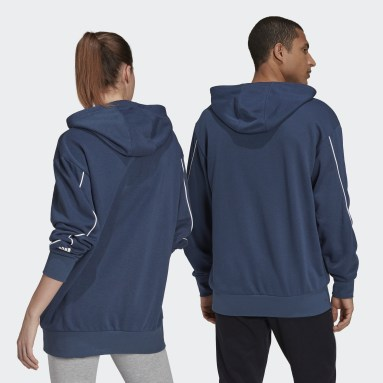 Sport Inspired Blue Giant Logo Hoodie (Gender Neutral)