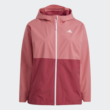 Veste BSC 3-Stripes RAIN.RDY Rose Femmes City Outdoor