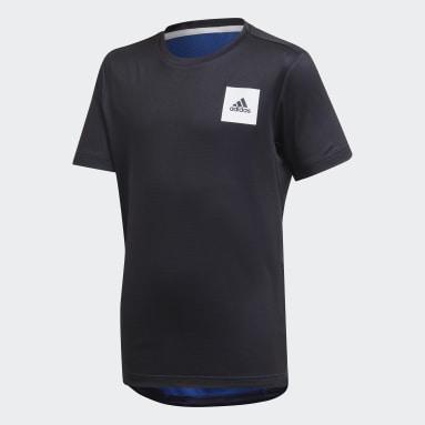 Jongens Studio Blauw AEROREADY T-shirt