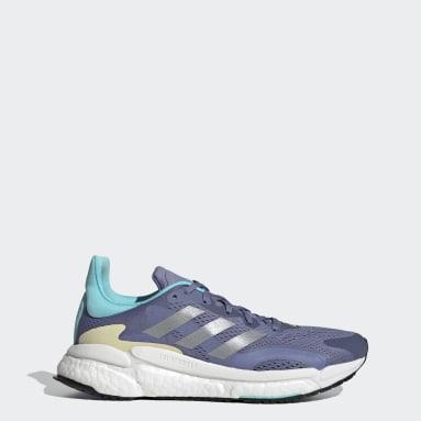 Women Running Purple SolarBoost 3 Shoes