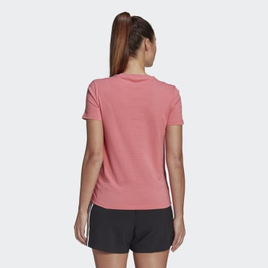 Women Sportswear Pink LOUNGEWEAR Essentials Slim 3-Stripes T-Shirt
