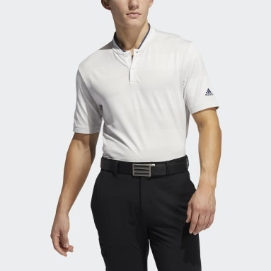 Men Golf White Primeknit Polo Shirt