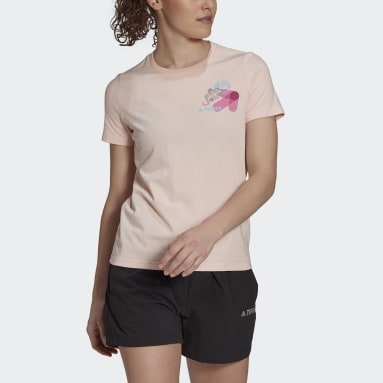 Frauen TERREX Travel Graphic T-Shirt Rosa