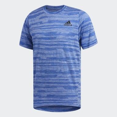 Camiseta FreeLift Engineered Heather Azul Homem Training