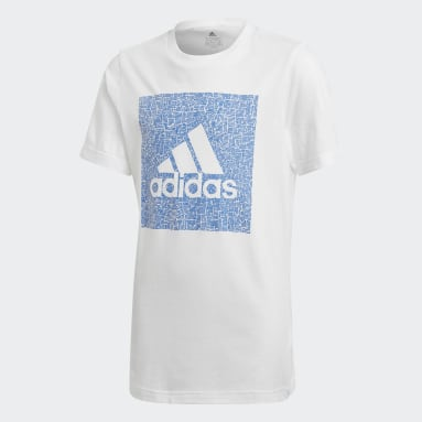T-shirt Must Haves Badge of Sport Blanc Garçons Fitness Et Training