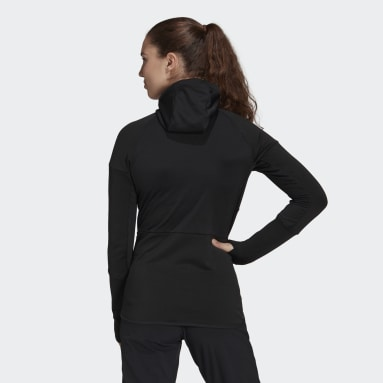 Women TERREX Black Terrex Tech Hooded Fleece Hiking Jacket