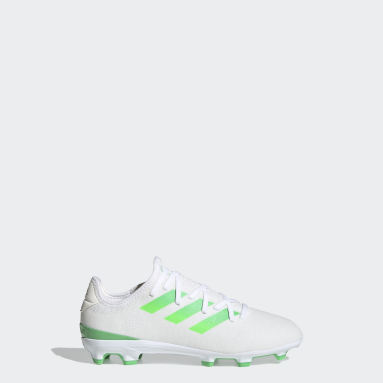 Kids Football White Gamemode Knit Firm Ground Boots