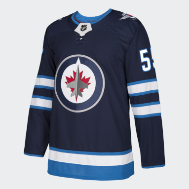 Men Hockey Multicolor Jets Scheifele Home Authentic Pro Jersey