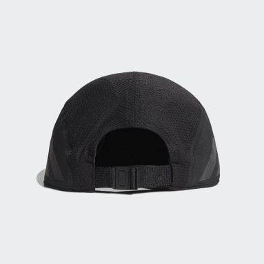 Running Black AEROREADY Five-Panel Runner Cap