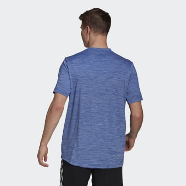 Heren Fitness En Training Blauw AEROREADY Designed To Move Sport Stretch T-shirt