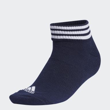 Women Golf Blue 3-Stripes Ankle Socks